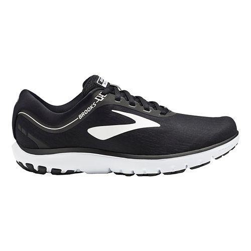 Womens Brooks PureFlow 7 Running Shoe - Black/White 8.5