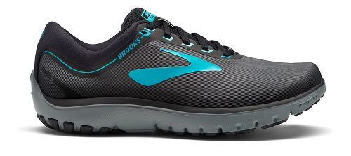 Womens Brooks PureFlow 7 Running Shoe - Grey/Teal 10