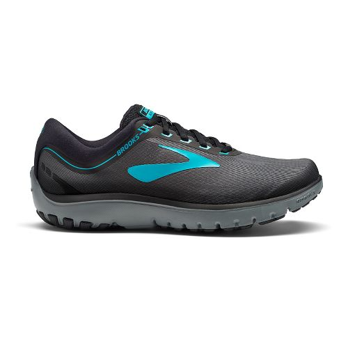 Womens Brooks PureFlow 7 Running Shoe - Grey/Teal 11.5