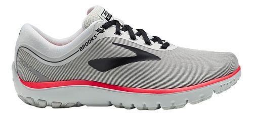 Womens Brooks PureFlow 7 Running Shoe - Grey/Black/Pink 5