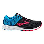 Womens Brooks Ravenna 9 Running Shoe - Black/Blue/Pink 7