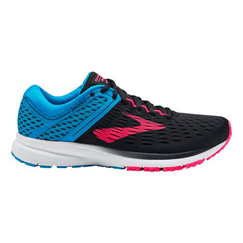 Womens Brooks Ravenna 9 Running Shoe - Black/Blue/Pink 8
