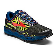Mens Brooks Caldera 2 Trail Running Shoe - Black/Neon 10