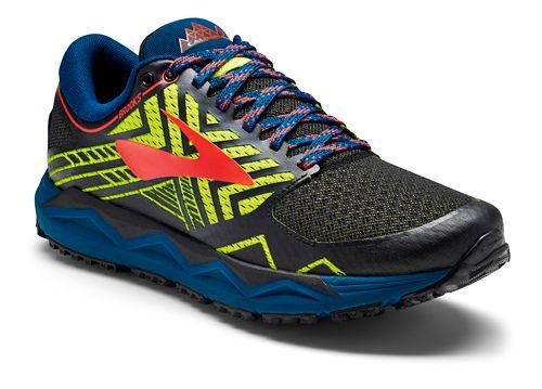 Mens Brooks Caldera 2 Trail Running Shoe - Black/Neon 15