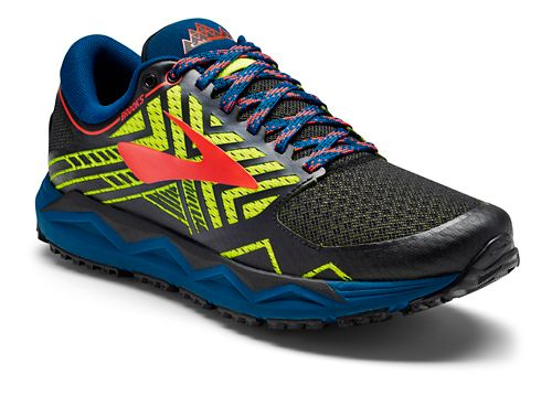 Mens Brooks Caldera 2 Trail Running Shoe - Black/Neon 9
