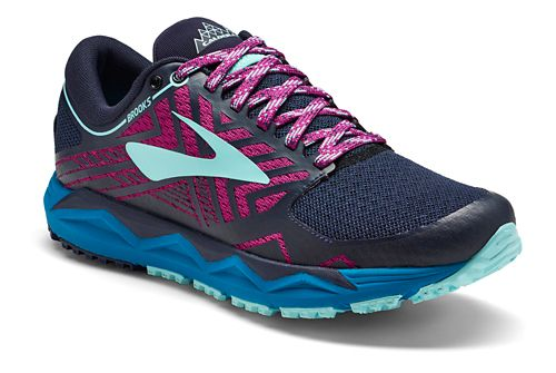 Womens Brooks Caldera 2 Trail Running Shoe - Navy/Plum 5