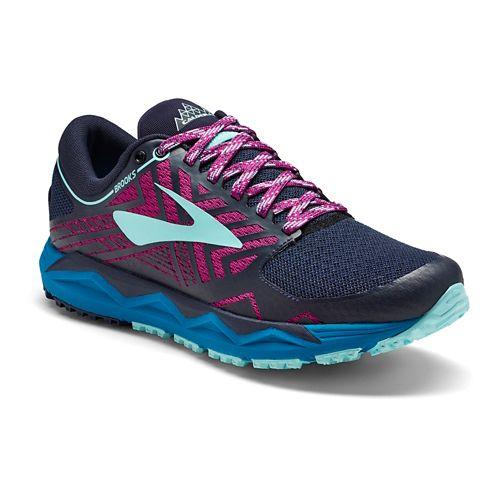 Womens Brooks Caldera 2 Trail Running Shoe - Navy/Plum 8