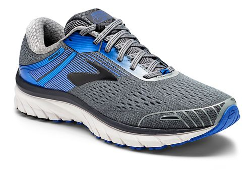 Mens Brooks Adrenaline GTS 18 Running Shoe - Grey/Blue 8.5