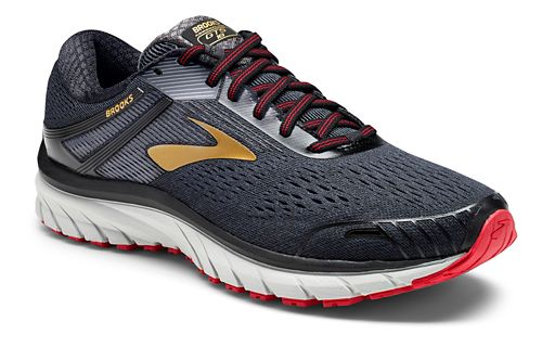 Mens Brooks Adrenaline GTS 18 Running Shoe - Black/Gold 10