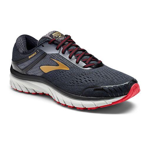 Mens Brooks Adrenaline GTS 18 Running Shoe - Black/Gold 11.5
