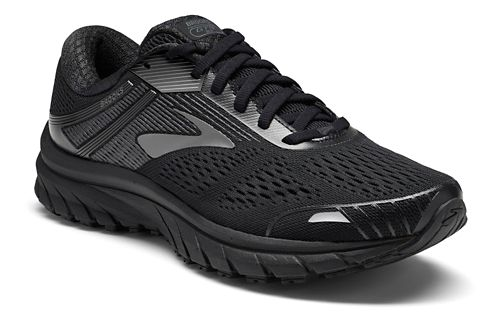 Womens Brooks Adrenaline GTS 18 Running Shoe - Black/Black 8.5