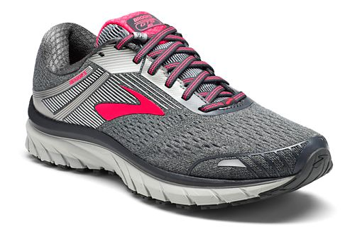 Womens Brooks Adrenaline GTS 18 Running Shoe - Silver/Pink 6.5