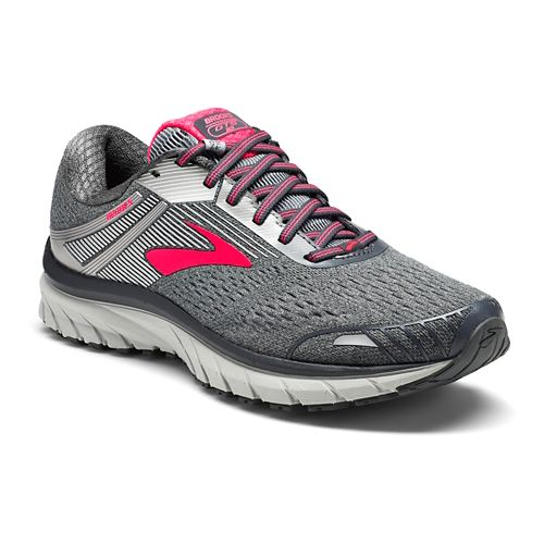 Womens Brooks Adrenaline GTS 18 Running Shoe - Silver/Pink 8.5