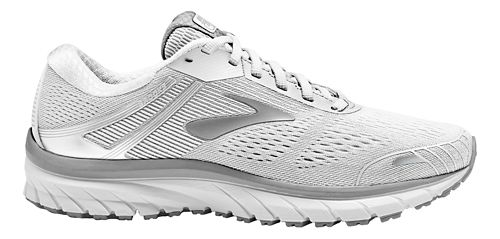 Womens Brooks Adrenaline GTS 18 Running Shoe - White/Grey 9.5