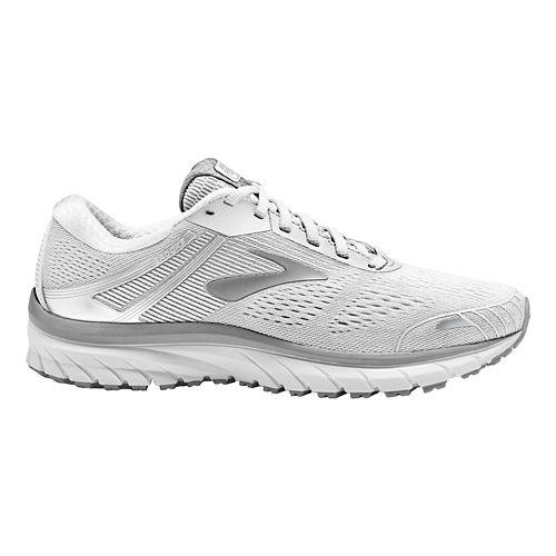 Womens Brooks Adrenaline GTS 18 Running Shoe - White/Grey 13