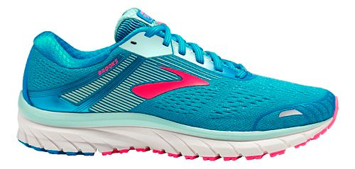 Womens Brooks Adrenaline GTS 18 Running Shoe - Blue/Mint/Pink 7