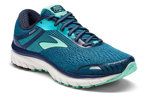 Womens Brooks Adrenaline GTS 18 Running Shoe - Navy/Teal 6.5