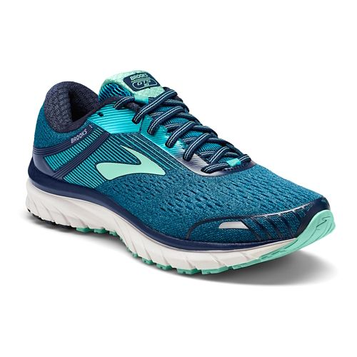 Womens Brooks Adrenaline GTS 18 Running Shoe - Navy/Teal 5.5