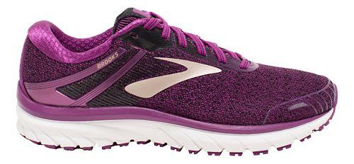 Womens Brooks Adrenaline GTS 18 Running Shoe - Purple/Black 11.5