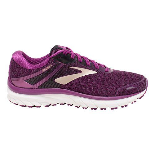 Womens Brooks Adrenaline GTS 18 Running Shoe - Purple/Black 12