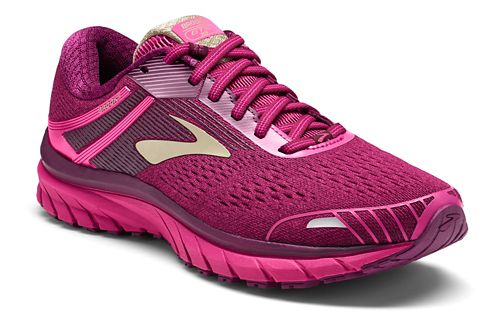 Womens Brooks Adrenaline GTS 18 Running Shoe - Pink/Plum 7.5