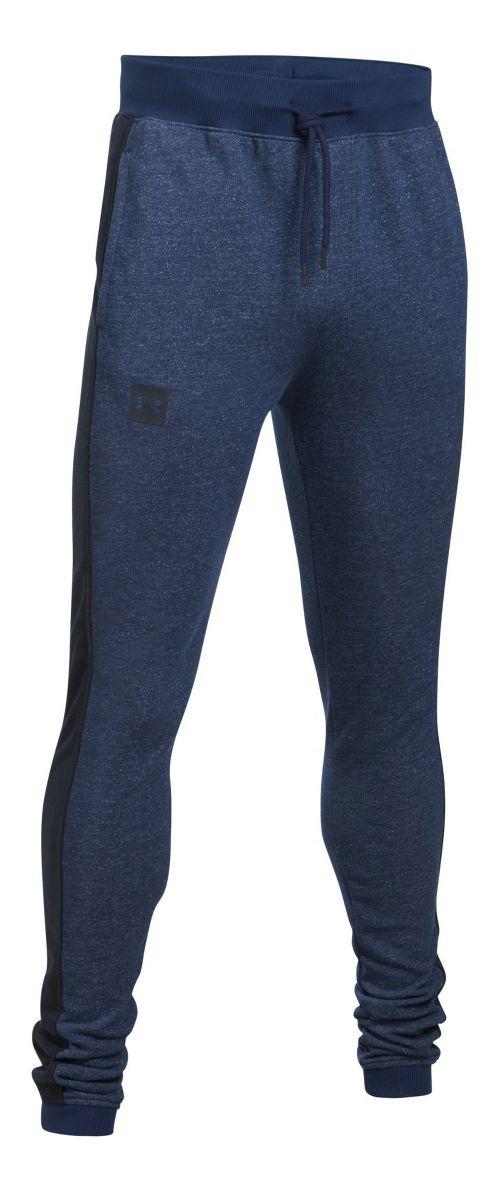 Mens Under Armour Sportstyle Flegging Pants - Academy/Black M