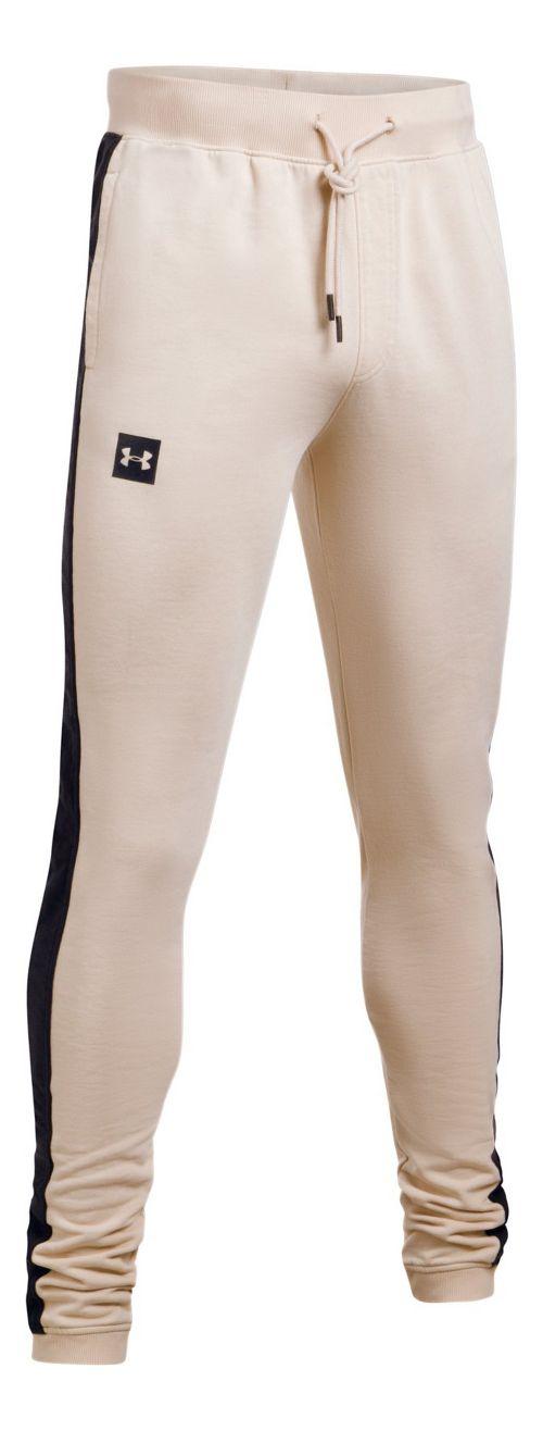 Mens Under Armour Sportstyle Flegging Pants - Beige Canvas/Black XL