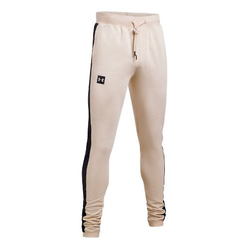 Mens Under Armour Sportstyle Flegging Pants - Beige Canvas/Black L