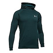 Mens Under Armour Tech Terry Fitted PO Half-Zips & Hoodies Technical Tops