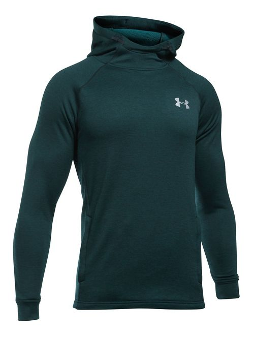 Mens Under Armour Tech Terry Fitted PO Half-Zips & Hoodies Technical Tops - Arden Green L
