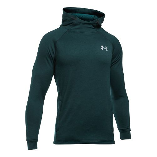 Mens Under Armour Tech Terry Fitted PO Half-Zips & Hoodies Technical Tops - Red S