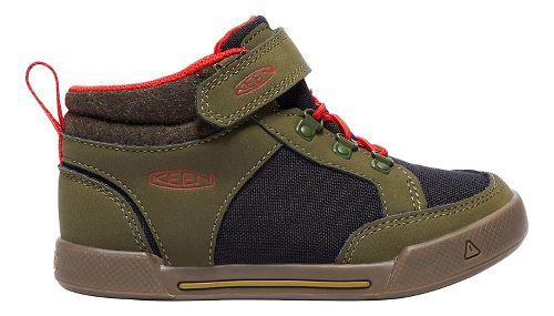 Kids Keen Encanto Wesley II High Top Casual Shoe - Olive/Black 10C