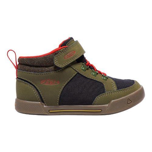 Kids Keen Encanto Wesley II High Top Casual Shoe - Olive/Black 8C