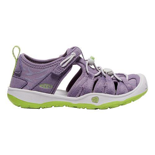 Kids Keen Moxie Sandals Shoe - Purple/Greenery 10C
