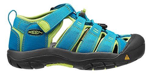 Kids Keen Newport H2 Sandals Shoe - Black/Green Glow 4Y