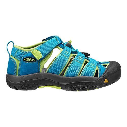 Kids Keen Newport H2 Sandals Shoe - Black/Green Glow 13C