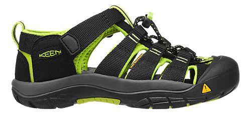 Kids Keen Newport H2 Sandals Shoe - Black/Lime Green 2Y