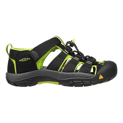 Kids Keen Newport H2 Sandals Shoe - Black/Lime Green 10C