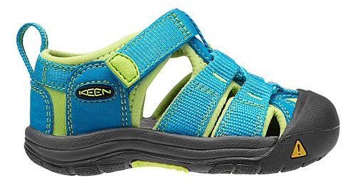 Kids Keen Newport H2 Sandals Shoe - Black/Green Glow 5C