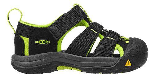 Kids Keen Newport H2 Sandals Shoe - Black/Lime Green 4C