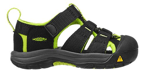 Kids Keen Newport H2 Sandals Shoe - Black/Lime Green 5C