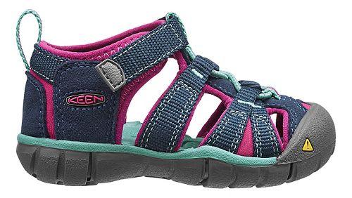 Kids Keen Seacamp II CNX Sandals Shoe - Poseidon/Very Berry 6C