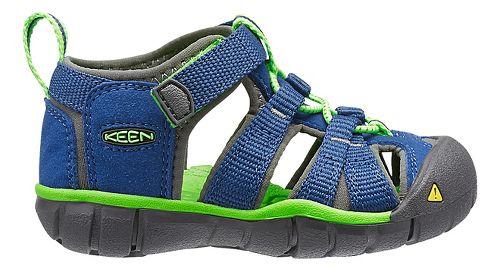 Kids Keen Seacamp II CNX Sandals Shoe - True Blue/Green 4C