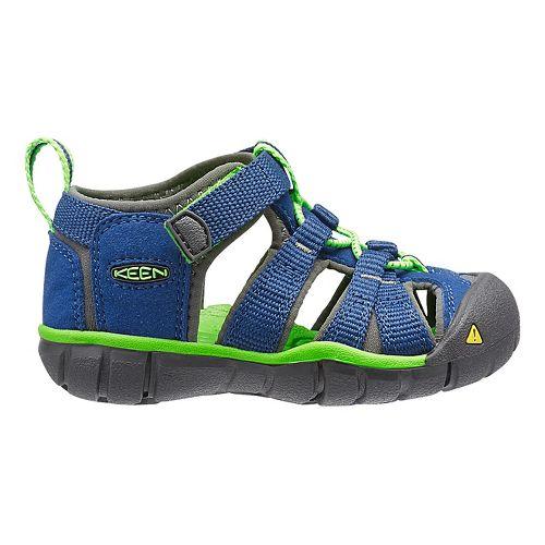 Kids Keen Seacamp II CNX Sandals Shoe - True Blue/Green 7C