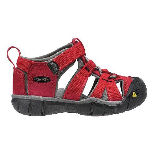 Kids Keen Seacamp II CNX Sandals Shoe - Racing  Red 7C