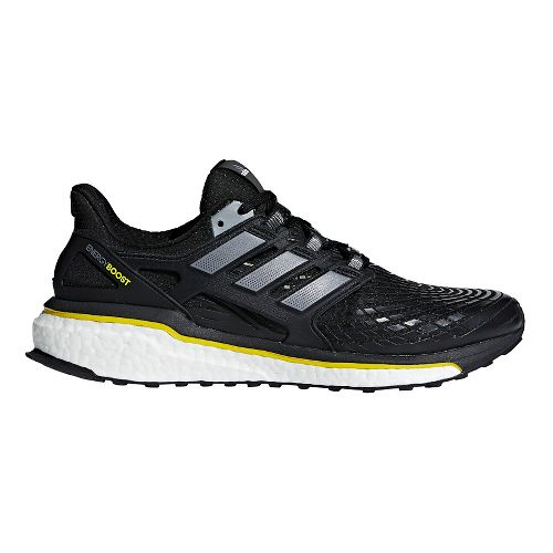 Mens adidas Energy Boost 5th Anniversary Running Shoe - Black/Yellow 8.5
