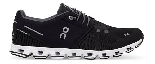 Mens On Cloud Running Shoe - Black/White 10