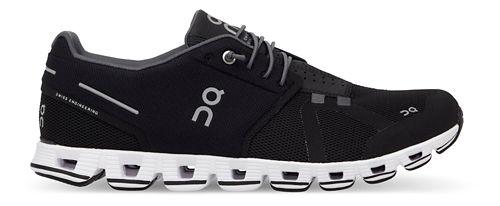 Mens On Cloud Running Shoe - Black/White 12.5