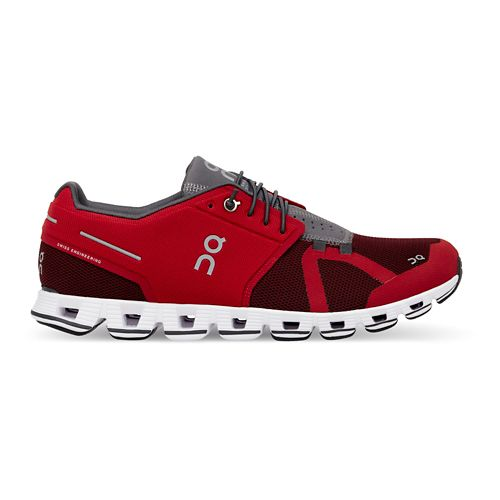 Mens On Cloud Running Shoe - Red/Ox 14