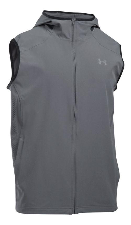 Mens Under Armour Storm Vortex Vests Jackets - Marathon Red XXL
